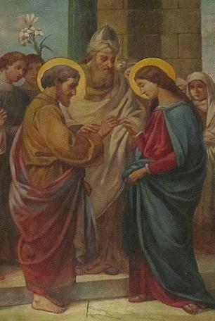 Marriage of Mary & Joseph depicted in the dome